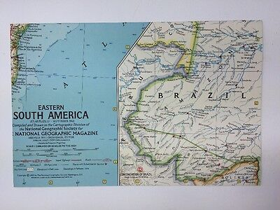 Eastern South America Atlas Map Plate 27 September 1962 By National Geographic