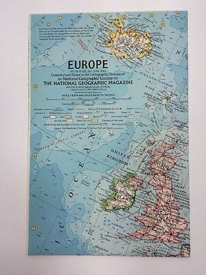 Europe Atlas Map Plate 30 June 1962 By National Geographic