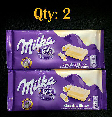 2 x Milka White Chocolate 100g