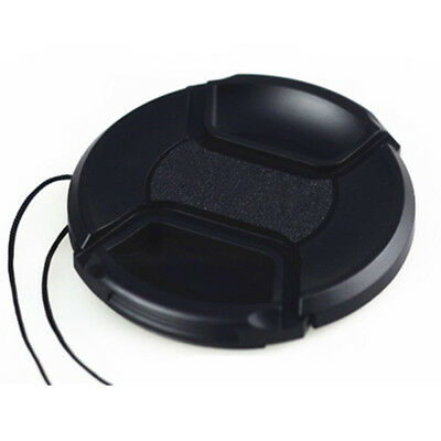 58 mm Front Lens Cap Center Snap on Camera Cover for Canon with Leash Protect AU