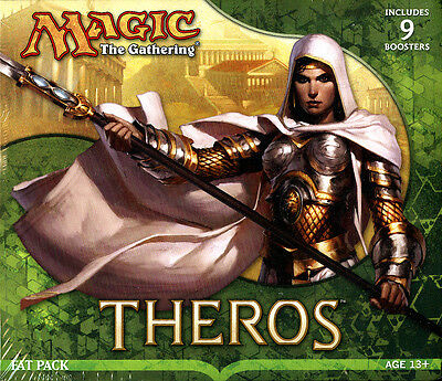 Magic The Gathering MTG Theros SEALED FAT PACK (contains 9 booster packs + MORE)