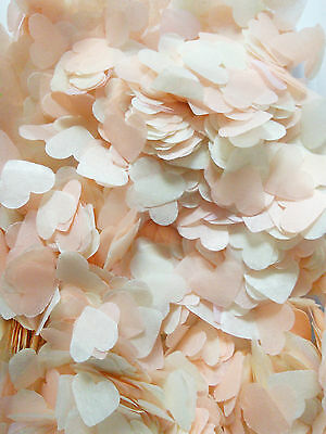 IVORY & PEACH BUTTERFLY / HEART for wedding confetti fill up to 10 hands