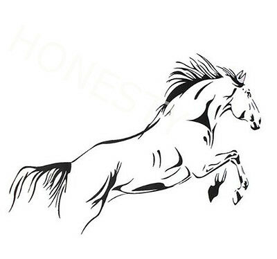 Black Jumping Horse Art Sticker Vinyl Decals Car Window Wall Laptop Door Decor