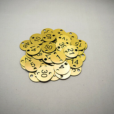 50x3cm 2 holes Engraved Number Discs, Table, Tags, Locker, Pub, Restaurant
