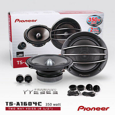 "New Pioneer 2 x TS-A1604C 6.5"" 350W Seperates Component car speakers"
