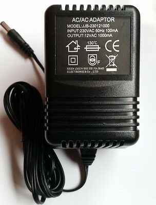New AC/DC Power Adapter Plug for Foot Massagers circulation boosters, 12V 1000mA