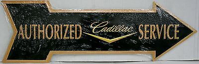 CADILLAC authorized service arrow die cut metal sign logo fleetwood m-616