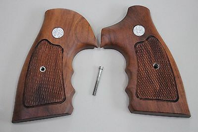 SMITH & WESSON WOOD GRIPS K/L FRAME SQUARE/ROUND BUTT REVOLVERS # Random