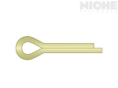 Cotter Pin 1/4 x 2 Carbon Steel Zinc Yellow  (150 Pieces)