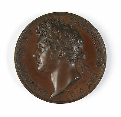 Official cased coronation medal of George IV by Benedetto Pistrucci 1821