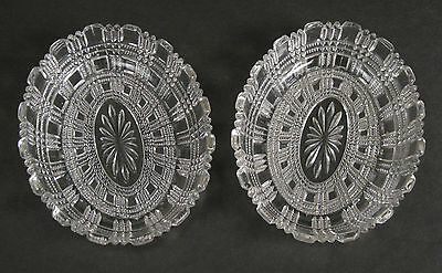 Victorian George Davidson, Gateshead pressed glass pair of oval dishes 1899