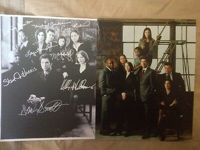 The Practice ~ 2 (8x10) Photos, 1 Autographed ~ Dylan McDermott, Camryn Manheim