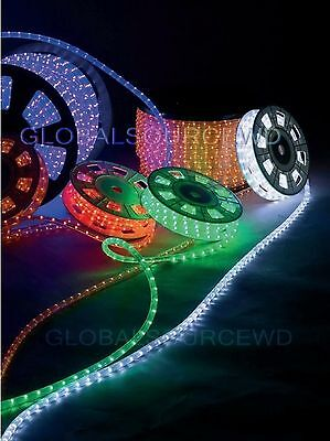 "150' FEET LED Rope Lights Choose You Color 1/2"" /13MM 1656 LEDs With Accessories"