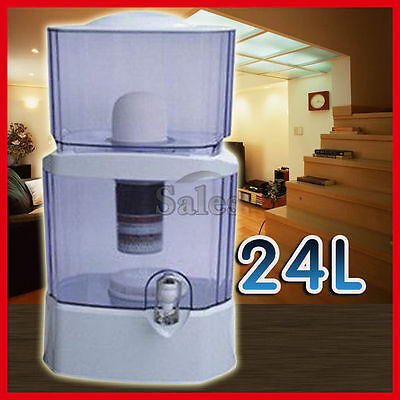24L Water Filter Bench Top Bottle Dispenser Ceramic Carbon Mineral Purifier