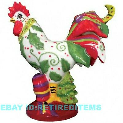 Poultry In Motion HOLLY DAYS 16798 Sharon Neuhaus Rooster Christmas Tree RARE