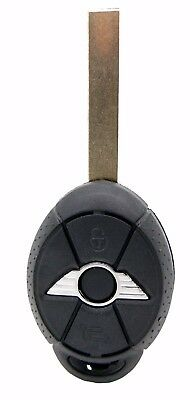 Fits Mini COOPER R53 R50 3 Button Remote Key FOB  case shell  with blank blade