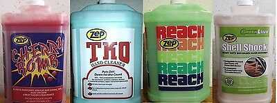 Zep Hand Cleaner Variety Case, 1 Gallon Of Cherry Bomb,reach,tko,shell Shock