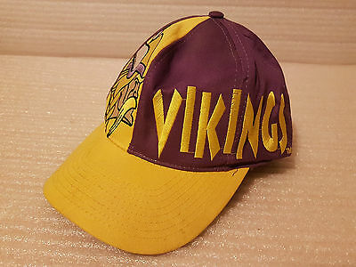 Vintage 90's Minnesota Vikings NFL American Football 4 Real Cap Snap back