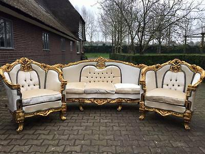 Special designed louis xvi living room set. sofa and 2 chairs