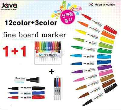 whiteboard markers White Board Dry-Erase Marker Pens 12 Colors fine size+gift 3p