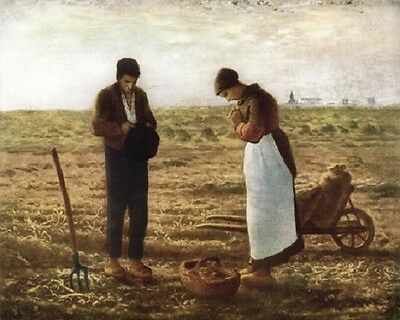 """The Angelus by Jean-Francois Millet Art Print 8""""x 10"""" Christian Photo 20"""