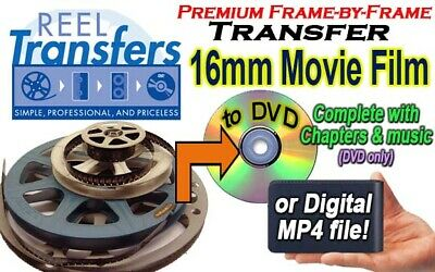 16mm film to DVD (no projector) - Silent or Sound
