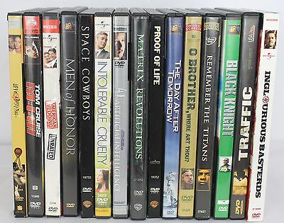 Lot of 15 Miscellaneous Mixed DVD Movies Action Romance Comedy Drama Adventure