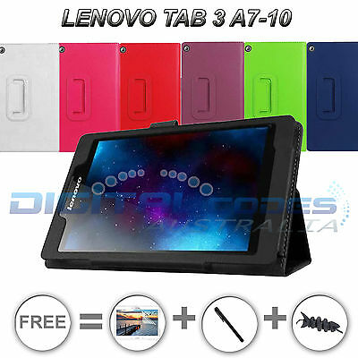 Premium Lenovo Tab 3 A7-10 Tablet Leather Case Cover Stand