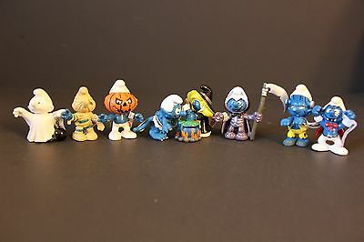 "Set of 8 (8 Pcs) of Halloween 3"" Smurfs Figures (PVC Figurine) , Smurfs 2 series"