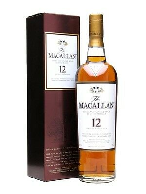 Macallan 12 Year Old Sherry Oak Single Malt Scotch Whisky 700ml Japan Edition