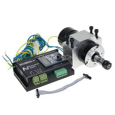 400W 24-60V DC CNC Brushless Spindle Motor Driver Kit  no Hall w/ Panel & Mount