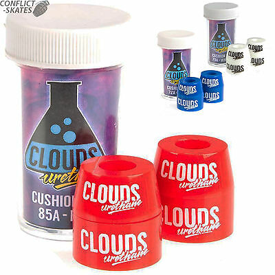 "CLOUDS ""Urethane Cushion Kit""  Bushings Rollerskate 72a 79a 85a Red White Blue"
