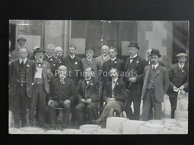 Cheshire THE CHEESE JUDGES possibly Nantwich c1905 RP Postcard