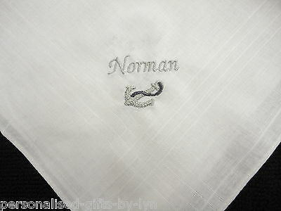 Personalised Handkerchief with Anchor design