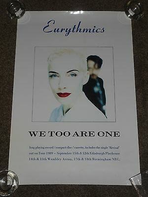 "Eurythmics ""We Too Are One"" 1989 Promo Poster"