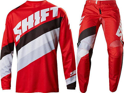 Shift Mx White Label Tarmac Gear Combo Jersey Pant Offroad Dirtbike BMX Red