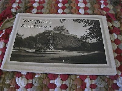 Vacations in Scotland 1930 Pamphlet / Map