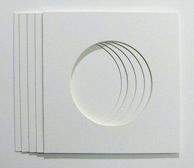 Pack of 5  Circular Photo / Picture Mounts to fit  23x23cm IKEA frames