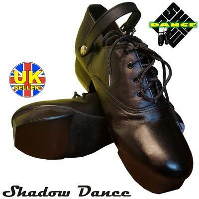 IRISH HEAVY HARD SHOES JIG DANCE DANCING GENUINE LEATHER HAND MADE (ghillies)