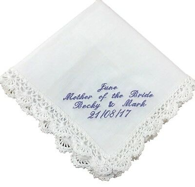 Personalised Handkerchief - Hankie, Mother of the Bride, Bridesmaid, Birthday