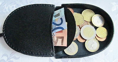 Horseshoe Leather Gents Men Coin Change Tray Wallet Purse Pouch