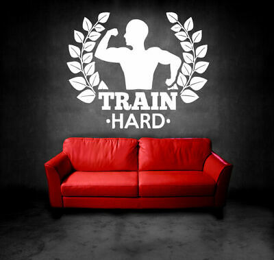 Wall Decal Room Sticker Bedroom Fitness Sport Crossfit Gym Workout Body bo2942