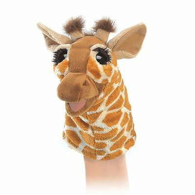 LIttle Giraffe Puppet with Moveable Mouth Folkmanis T3086, Boys & Girls, 3 & Up