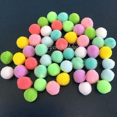POM POMS 10mm Polyester Hobby/Craft Various Decorative Colours - School projects