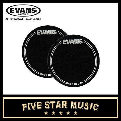 Evans Eqpb1 Black Nylon Single Pedal Kick Drum Head Eq Patch - 2 Pack - New