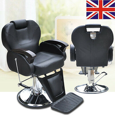 Barber Chair Salon Hydraulic Reclining Styling Hairdressing Threading Shaving UK