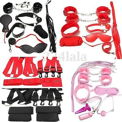 Set Kit Bondage Slave Fetish Manette Palla Frusta Collare Restraints Adulto Sexy