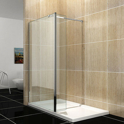 Walk In Shower Enclosure Glass Screen Wet Room Flipper Panel 8mm EASY CLEAN
