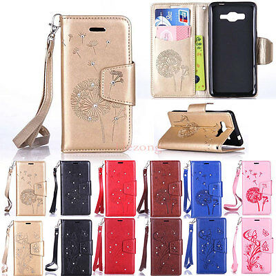 For Samsung Galaxy Flip Stand PU Leather Wallet Phone Case Cover Skin