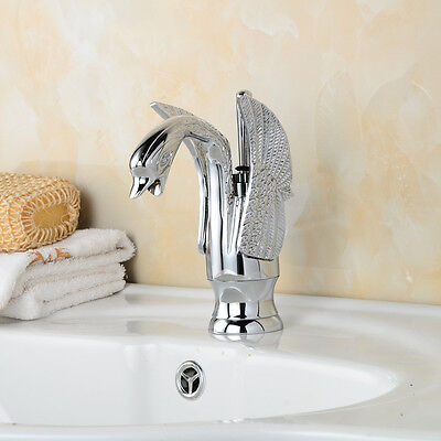 Chrome Waterfall Bathroom Sink Faucet Vessel Lavatory One Hole/Handle Mixer tap